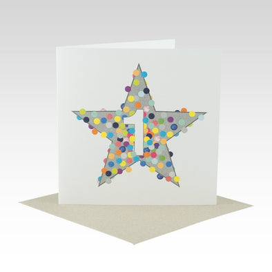 First Birthday Star Card