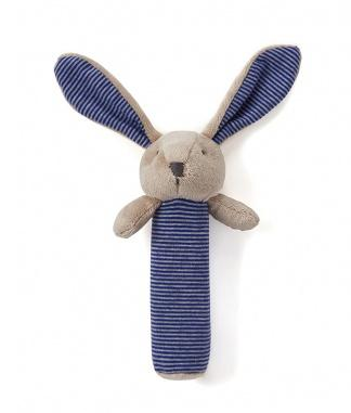 Bunny Baby Rattle Blue