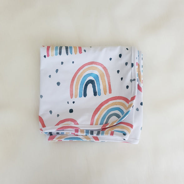 Watercolour Rainbow Swaddle Wrap