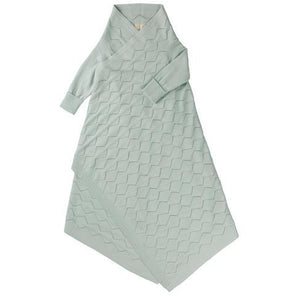 Diamond Lace Pointelle Shwrap Mint