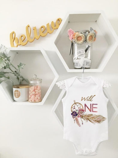 Wild One Dreamcatcher SS Onesie