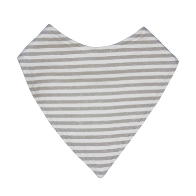 Grey Stripe Dribble Bib