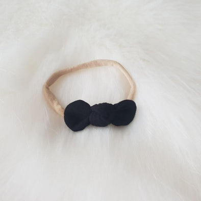 Black Mini Bow Headband