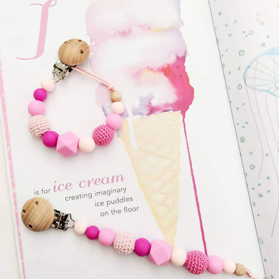 Crochet Dummy Chain Pinks