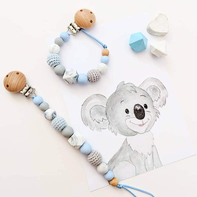 Crochet Dummy Chain Powder Blue