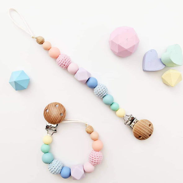 Crochet Dummy Chain Pastel Rainbow