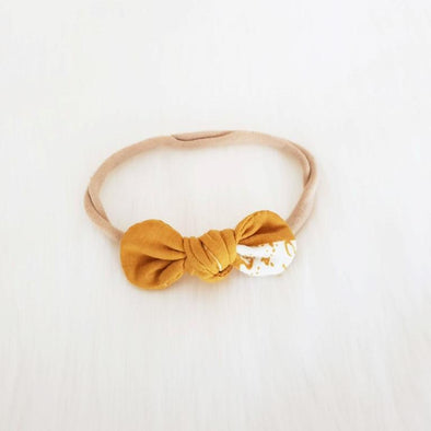 Twilight Mustard Mini Bow Headband