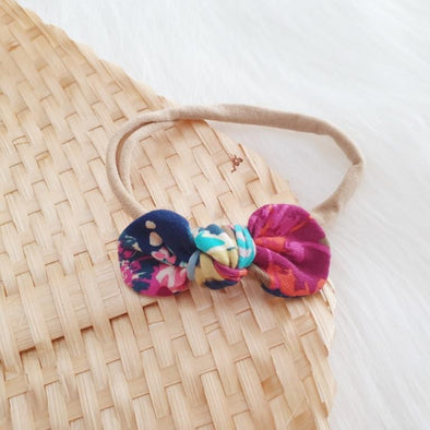 Rose Boho Mini Bow Headband