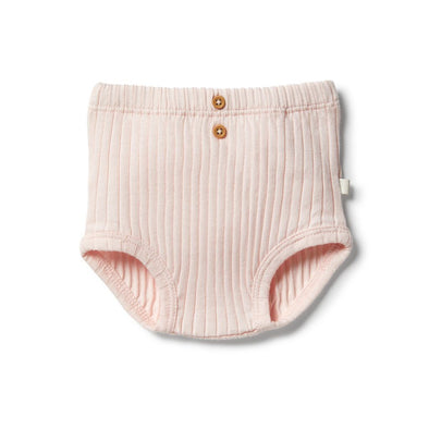 Wilson & Frenchy Organic Rib Nappy Pant Angel Wing