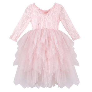 Ella Long Sleeve Lace Tutu Pink