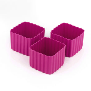 Bento Cups Square Dark Pink