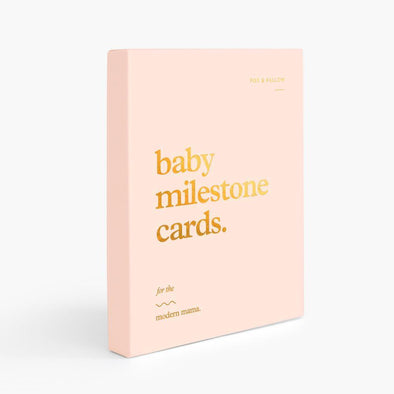 Fox & Fallow Baby Milestone Cards Cream