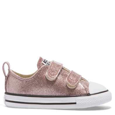 Converse Toddler 2V Low Rose Gold Glitter