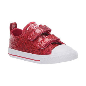 Converse Toddler All Star 2V Cherry Red Glitter
