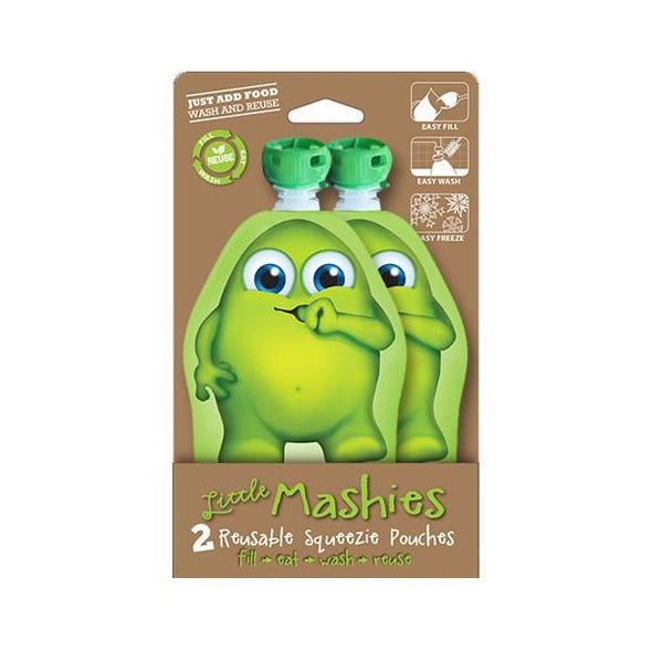 Little Mashies 130ml Twinpack Green