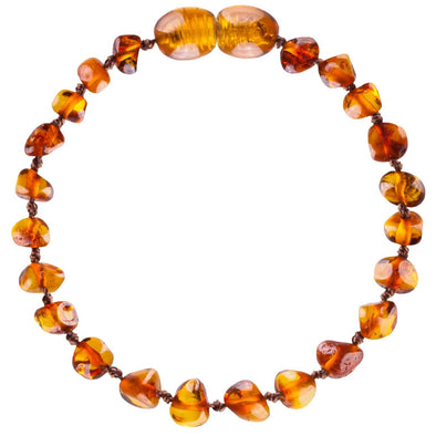 Baby Amber Bud Anklet Cognac
