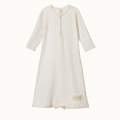 Nature Baby Pointelle Sleeping Gown Natural