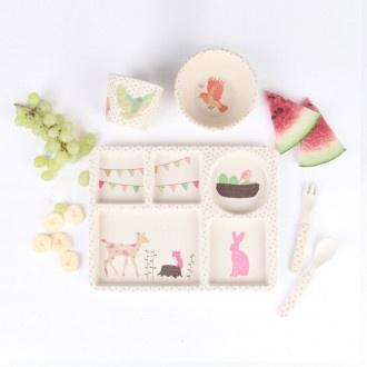 Love Mae Divided Plate Set Woodland Tea Party