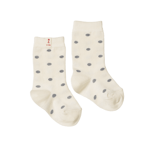Nature Baby Organic Cotton Socks Grey Polka