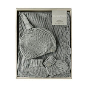 Little Bamboo Knit Gift Set Marle Grey