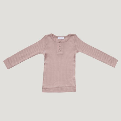 Jamie Kay Cotton Modal Henley Top Rosy