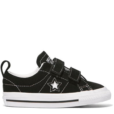 Converse Toddler One Star 2V Low Top Black Suede