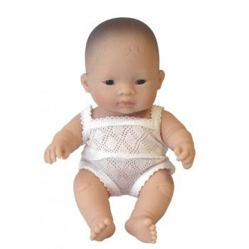 Miniland Anatomically Correct Baby Doll Asian Boy, 21 cm