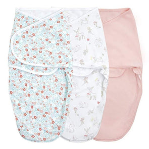 Aden + Anais Wrap Swaddle 3pk Fairy Tale Flowers