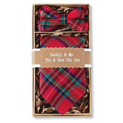 Daddy & Me Tartan Neck & Bow Tie Set