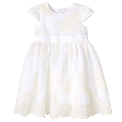 Madison Christening Dress Beige