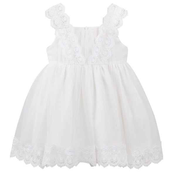 Cynthia Lace Dress White