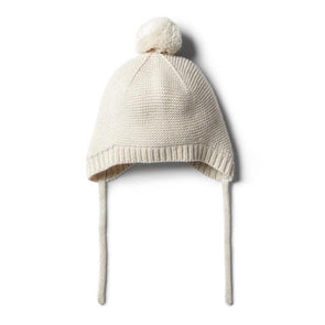 Wilson & Frenchy Oatmeal Knitted Bonnet