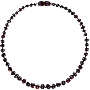 Amber Bud Necklace Dark Cherry