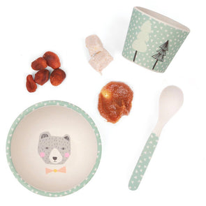 Love Mae Baby Feeding Set Bear