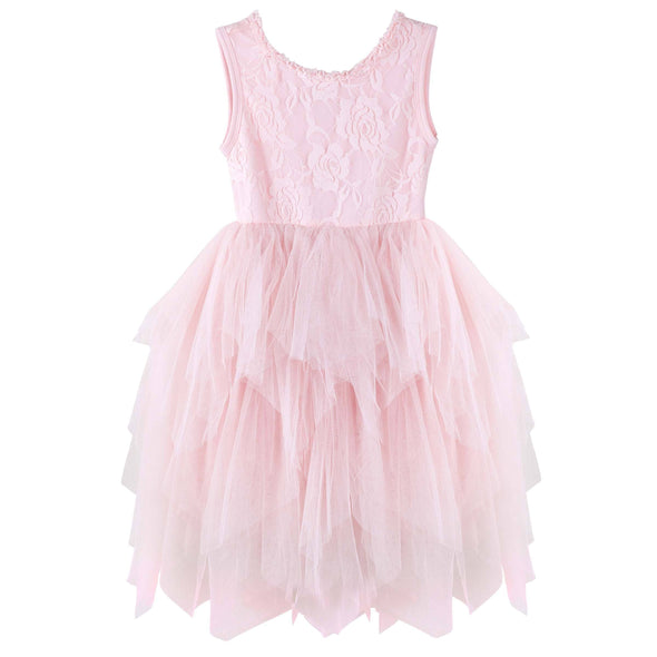 Ella Sleeveless Lace Tutu Pink