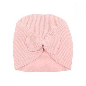 Bebe Layla Bow Knot Beanie Pink