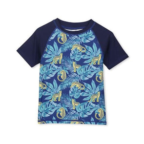 Milky Tropical Short Sleeve Rashy