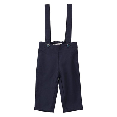 Toby Linen Suspender Pants Navy