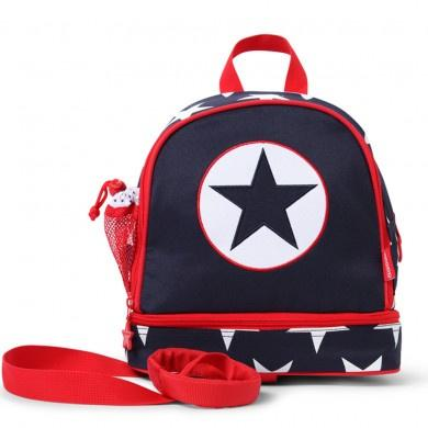 Penny Scallan Junior Backpack With Rein Navy Star