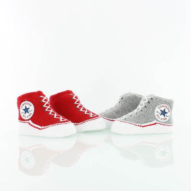 Converse Knit Booties Heather Grey/Red