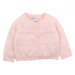 Bebe Barely Pink Pointelle Cardigan