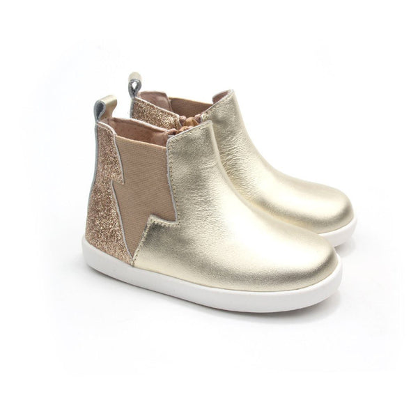 Electric Boot Gold Glitter