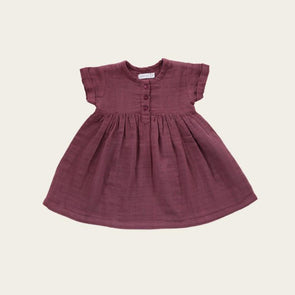 Jamie Kay Short Sleeve Muslin Dress Sugar Plum