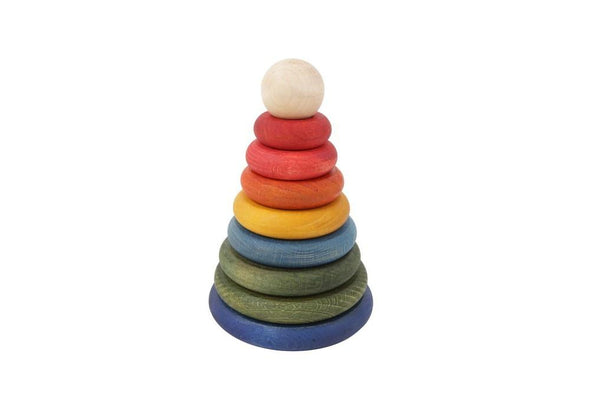 Wooden Story Round Stacker Rainbow