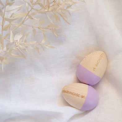 Babynoise Duo Egg Shakers Lilac
