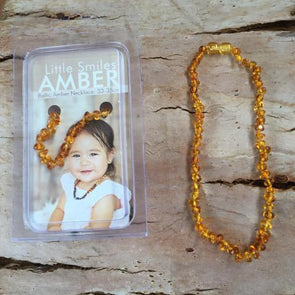 Amber Necklace 33-35cm Honey
