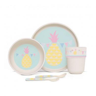 Penny Scallan Bamboo Mealtime Set Pineapple Bunting