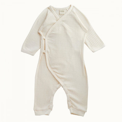 Nature Baby Pointelle Kimono Stretch & Grow Natural