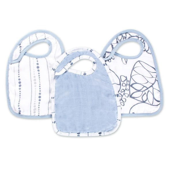 Silky Soft Snap Bibs 3pk Moonlight