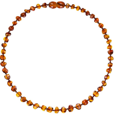 Child Amber Bud Necklace Cognac